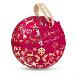 Divine Christmas Bauble - Smooth Milk Chocolate Salted Pretzels