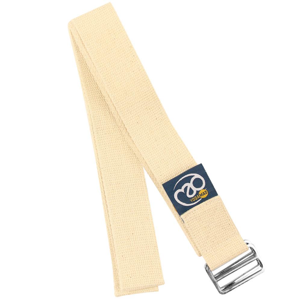 Lightweight Yoga Belt 2m D Ring - Natural