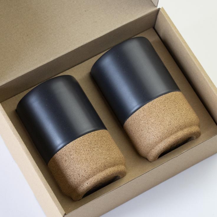 Liga - Large Mug Gift Set - Matt Black