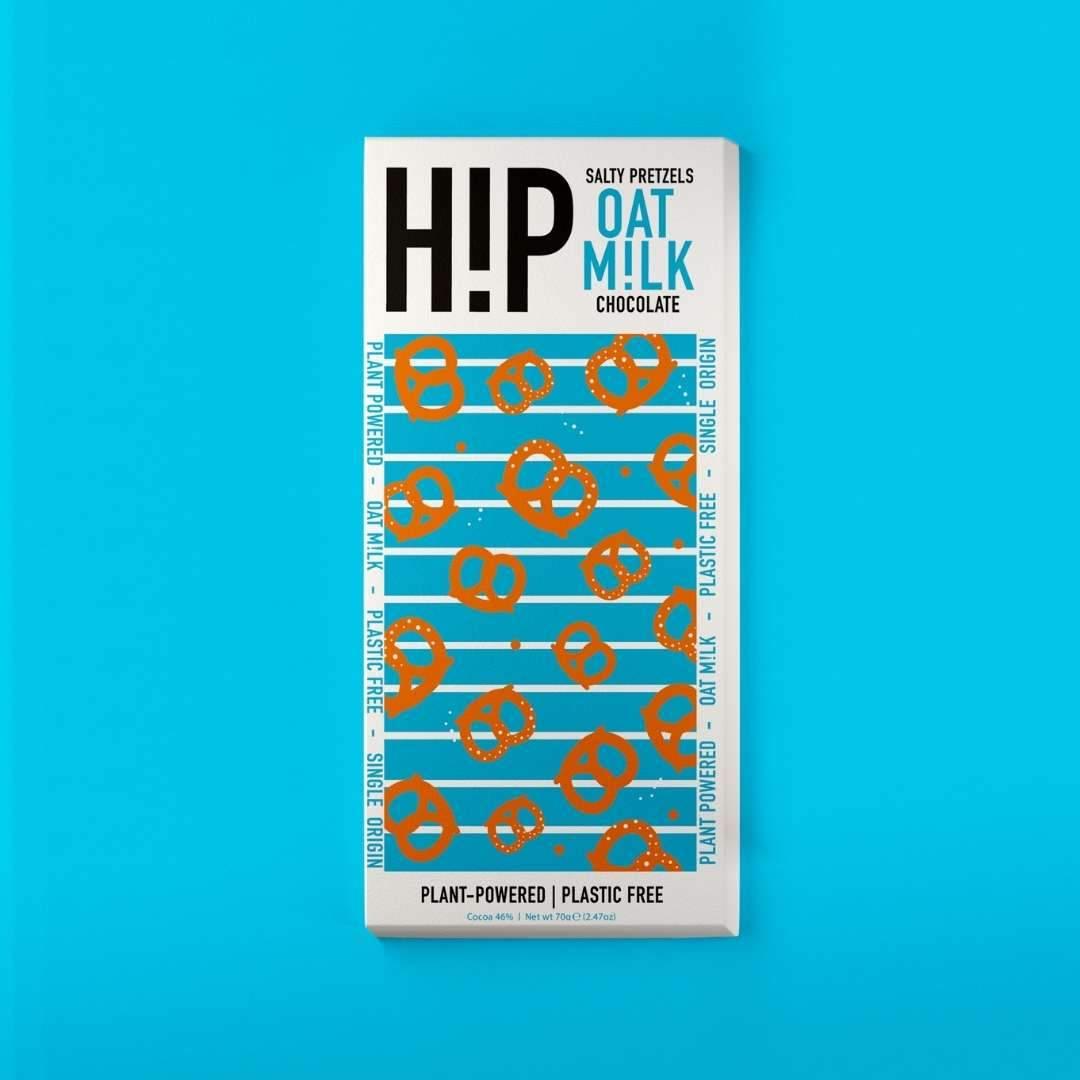 H!P - Salty Pretzels Oat M!lk Chocolate Bar 70g