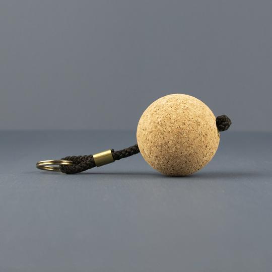 Liga - Cork Ball Keyring | Black