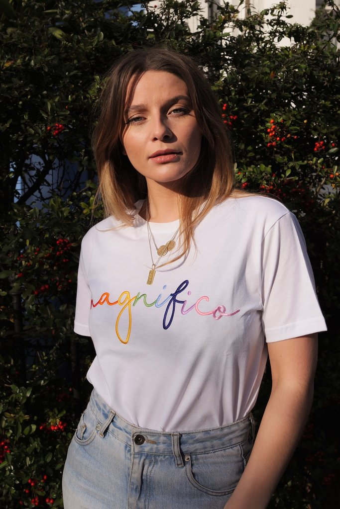 'Magnifco' T-Shirt - Olive & Frank