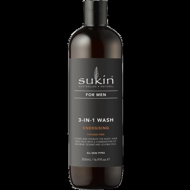 Sukin for Men 3-in-1 Energising Wash 500ml