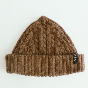 OBG - 100% Alpaca wool hat - Fisherman cable knit beanie (available in 2 colours)