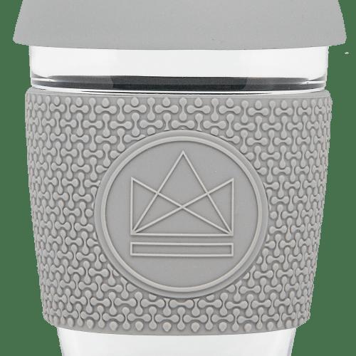 Neon Kactus - Grey Reusable Glass Cup, 12oz