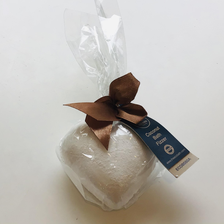 Eco Bath London - Heart shape Bath Bomb - Coconut