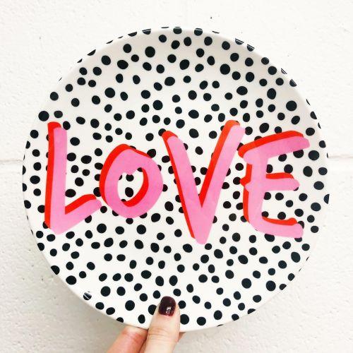 "'Love Polka Dot"" (Art Wow 8"" Plate)"