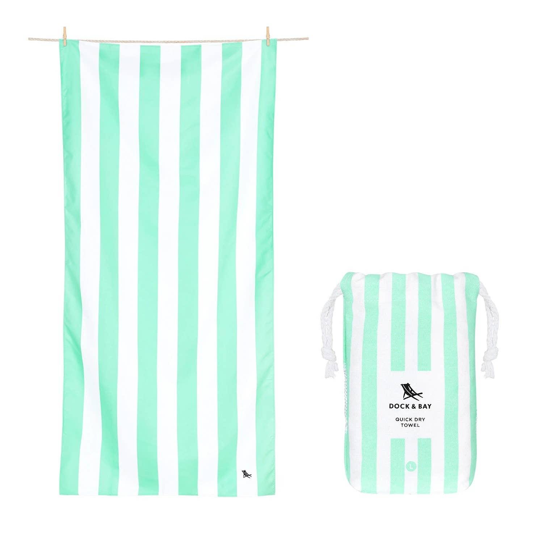Dock & Bay Quick Dry Towel - Cabana - Narrabeen Green