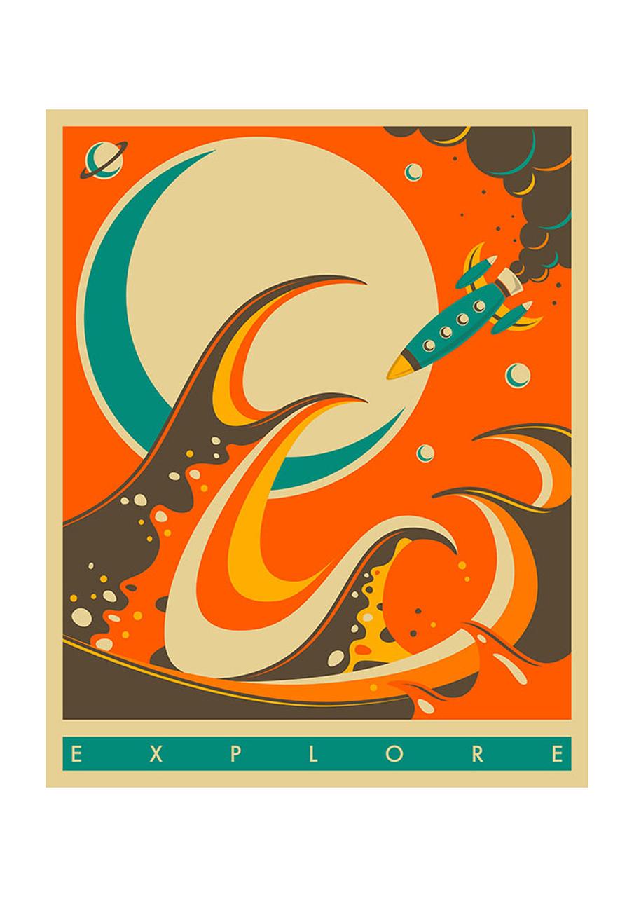 'Explore 6'  (A3) Art Print (East End Prints)