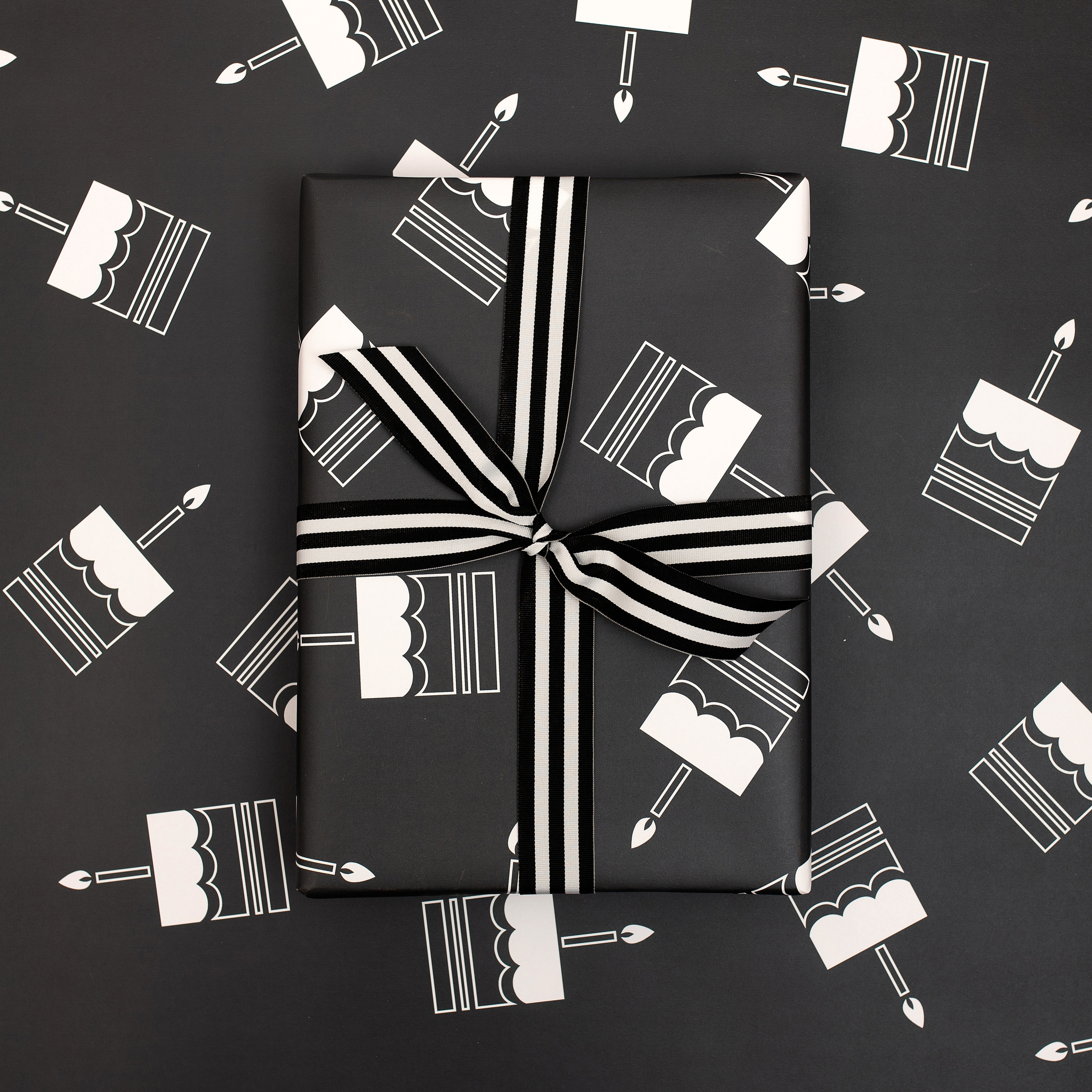 Monochrome Birthday Cake | Wrapping Paper