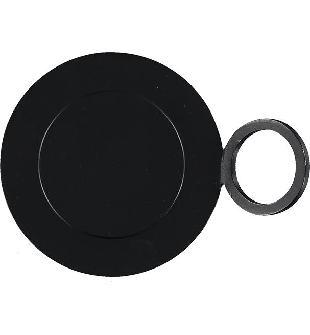BCS British Coloured Standard - Metal Candle Plate Ridge Style - Jet Black
