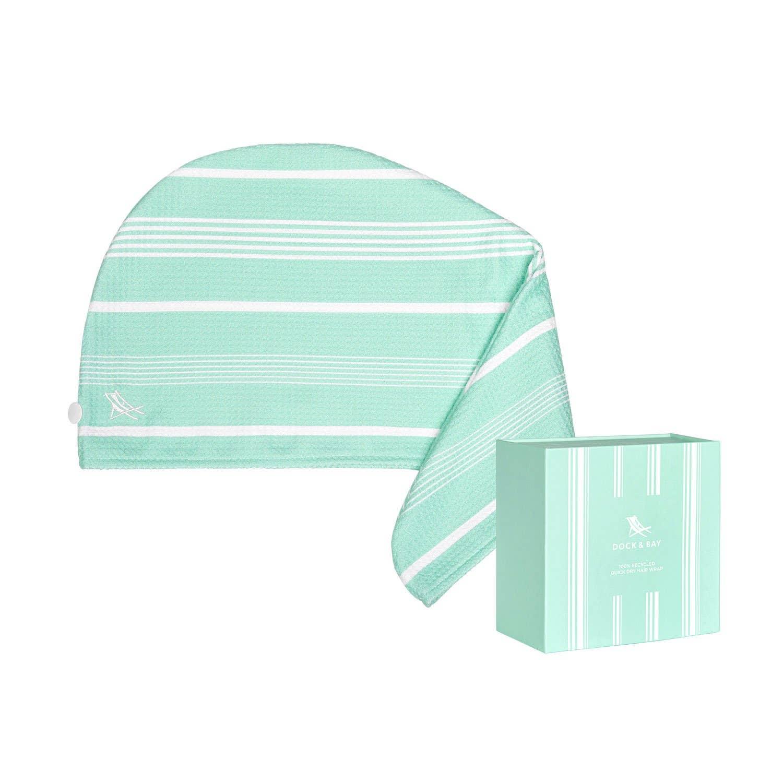 Dock & Bay Hair Wrap - Quick Dry Hair Towel - Eucalyptus Green