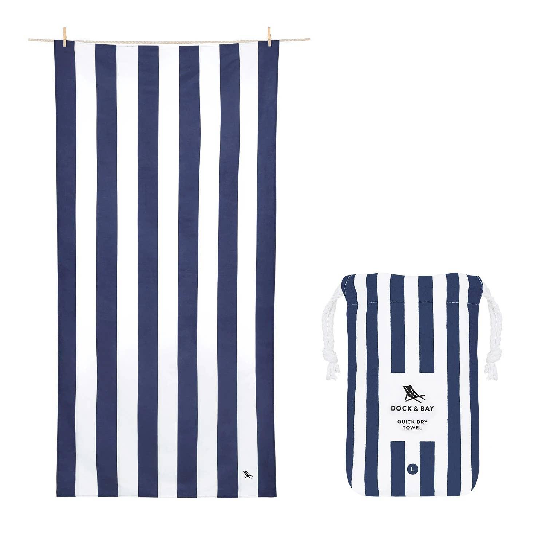 Dock & Bay Quick Dry Towel - Cabana - Whitsunday Blue