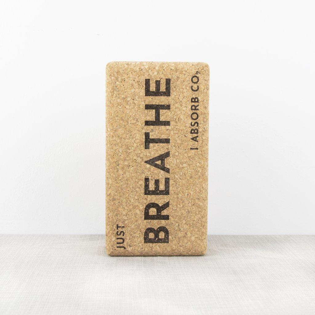 Liga Singular Cork Yoga Block - Just Breathe