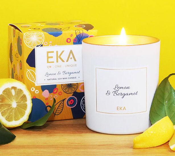 EKA - Lemon & Bergamot Soy Wax Candle