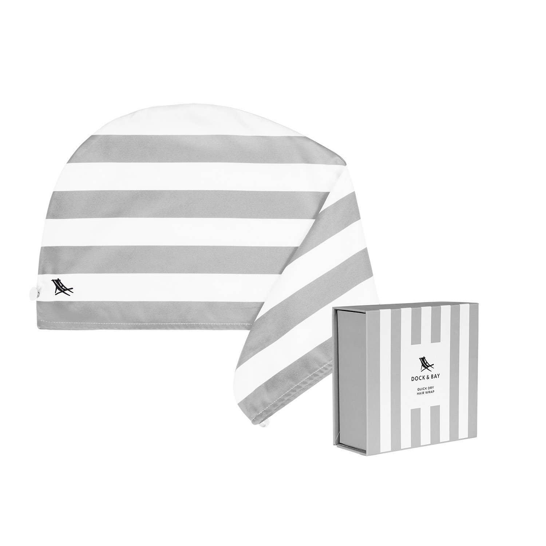 Dock & Bay Hair Wrap - Quick Dry Hair Towel - Goa Grey