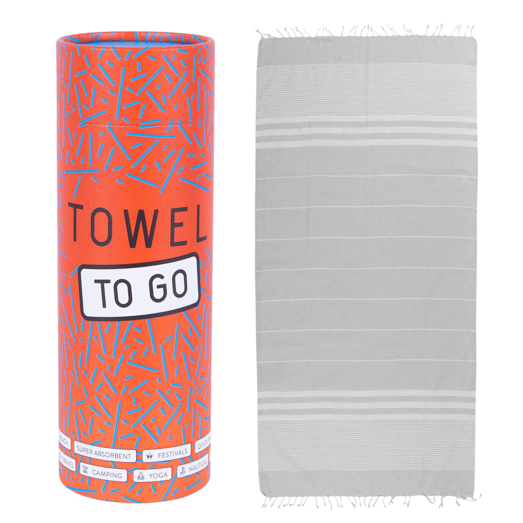 Towel to Go - Hammam towel in Grey