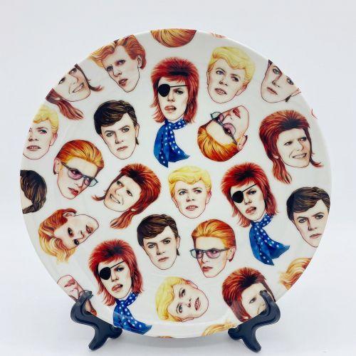 """'Fabulous Bowie' (Art Wow 8"""" Plate)"""