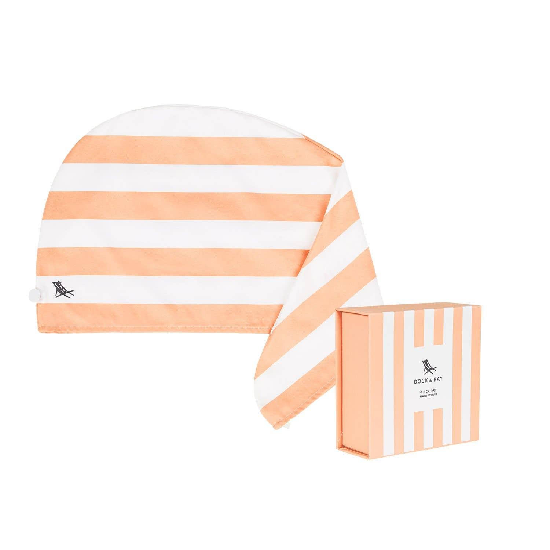 Dock & Bay Hair Wrap - Quick Dry Hair Towel - Positano Peach