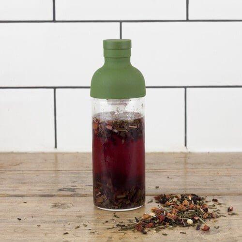 Bird & Blend- Mini Cold Brew Tea Bottle - Olive Green