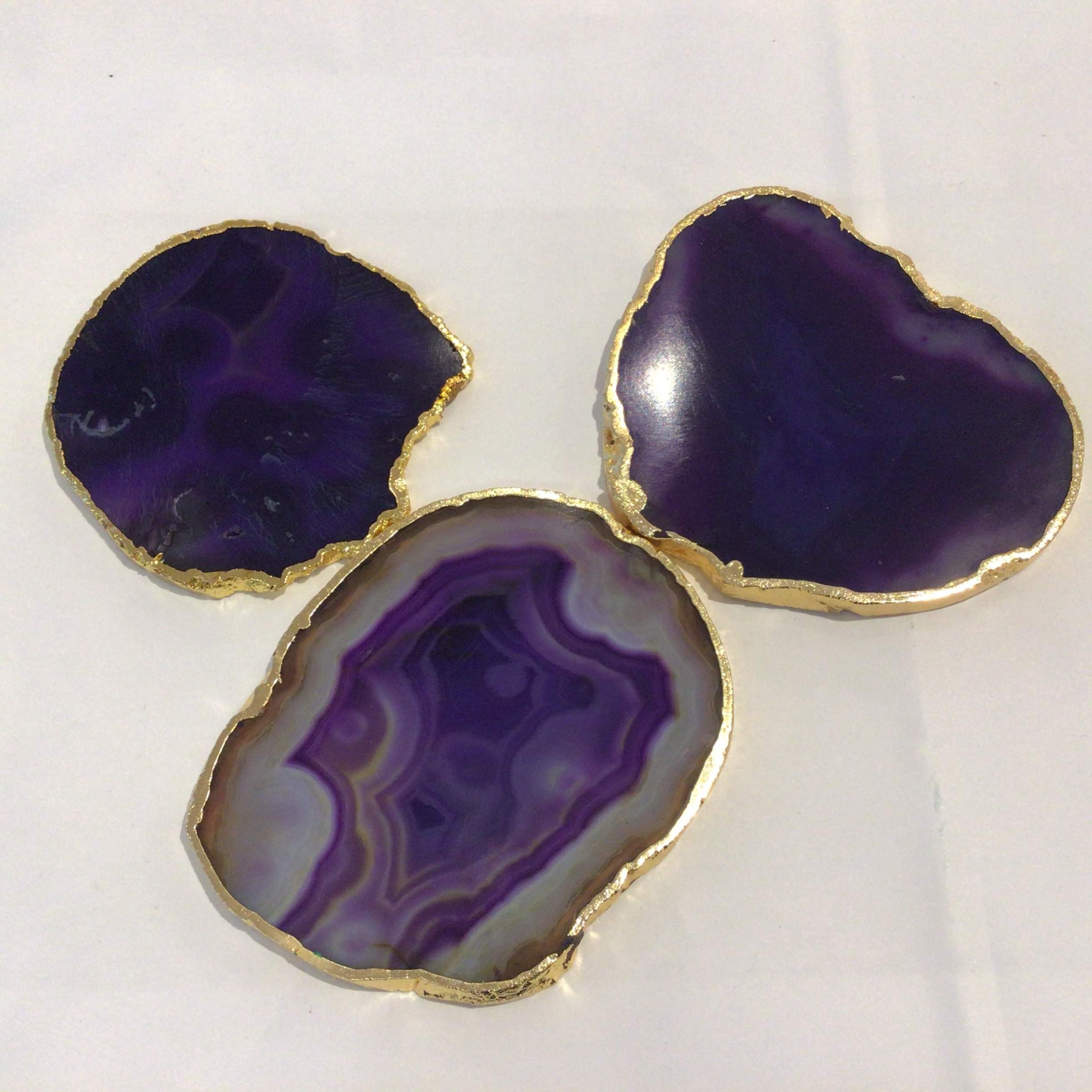 Agate Coaster - Purple