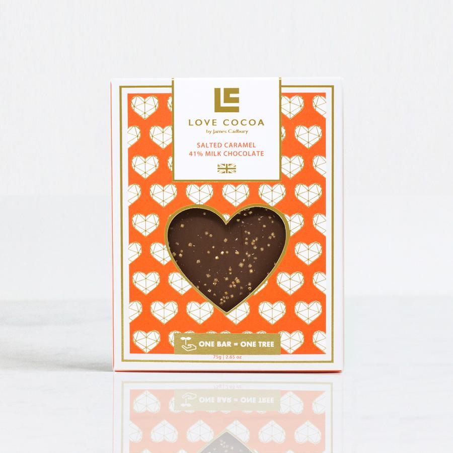 Love Cocoa - Milk Salted Caramel 'Heart Edition' Bar 75g