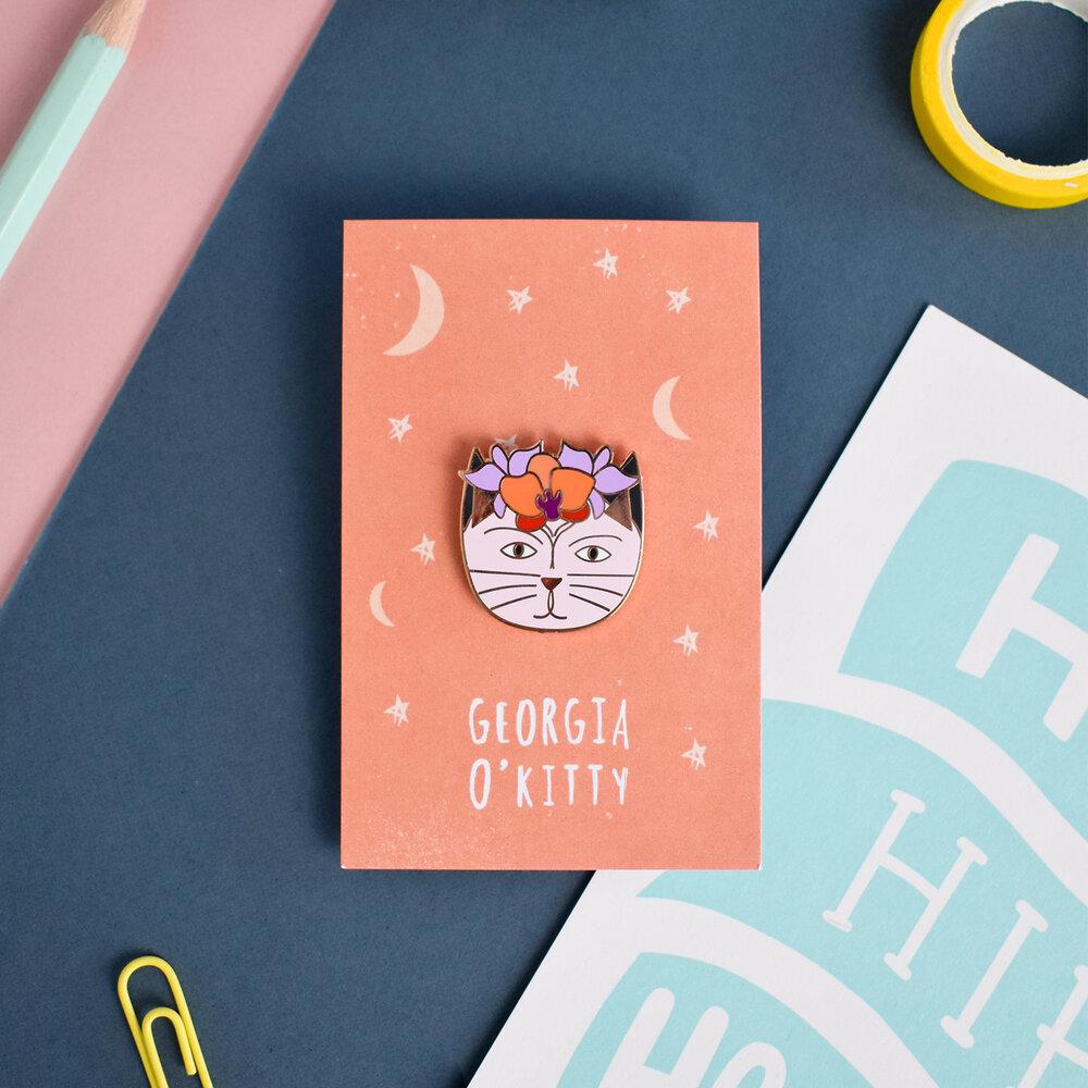 Niaski - Georgia O'Kitty  Enamel Pin