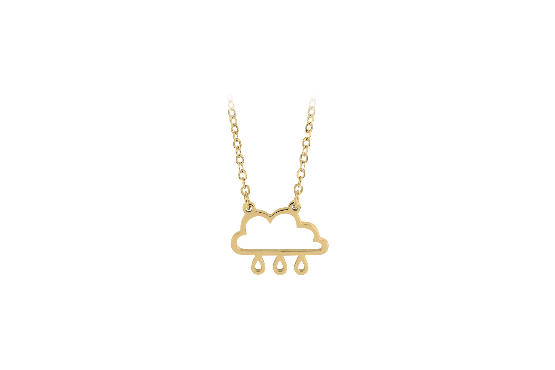 Esa Evans - Rain Cloud Pendant Necklace (18k Gold Plate)