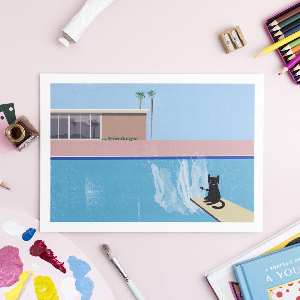 Niaski - Splash  A4 print