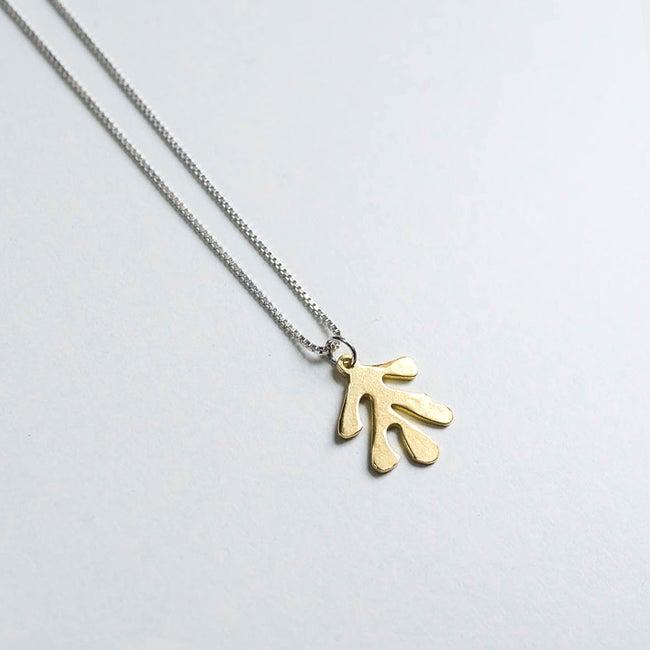 Lima Lima - Brass Leaf necklace