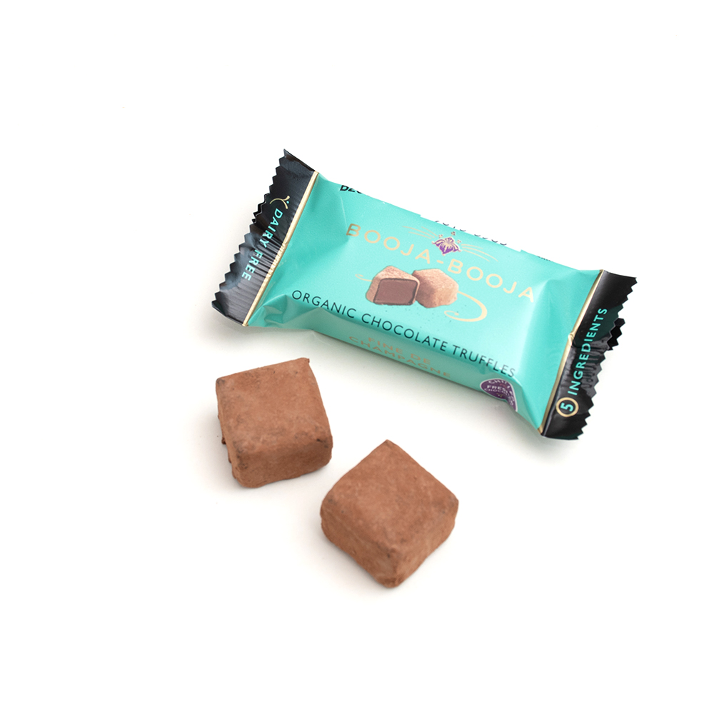 Booja-Booja Organic Chocolate Truffles -  Fine de Champagne (2 pack)