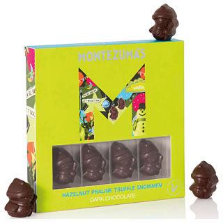 Montezumas Chocolate -  Dark Choc & Hazelnut Snowmen 110g