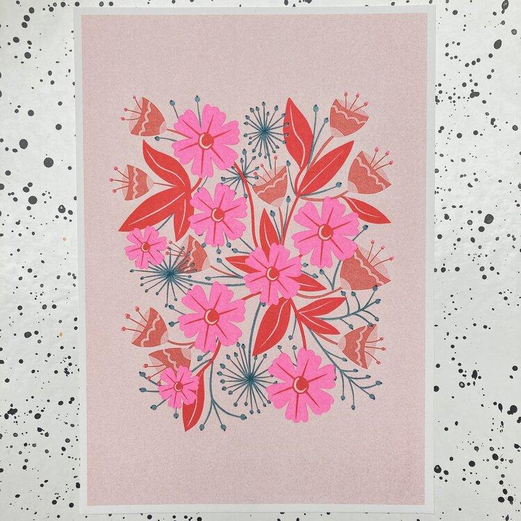 Melissa Donne -  A4 Floral Square