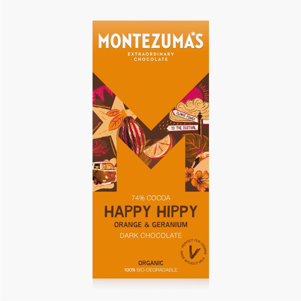 Montezumas - Happy Hippy Chocolate bar 90g