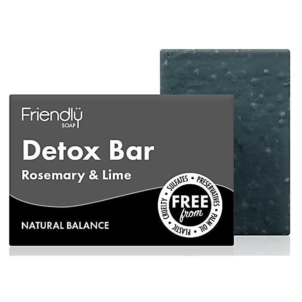 Friendly Soap - Natural Activated Charcoal Detox Bar (95g)