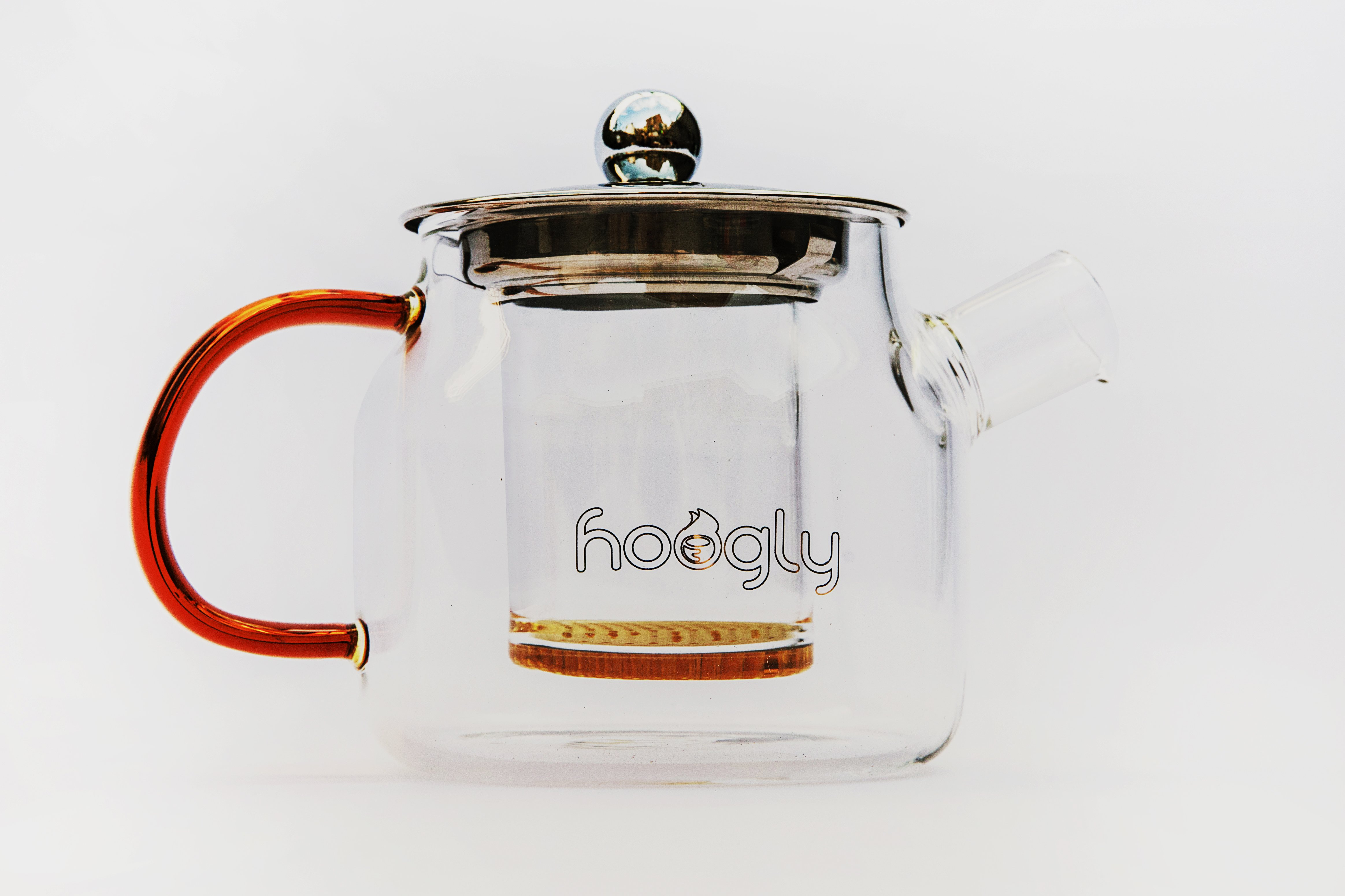Hoogly  Glass Tea Pot  400ml with removable filter
