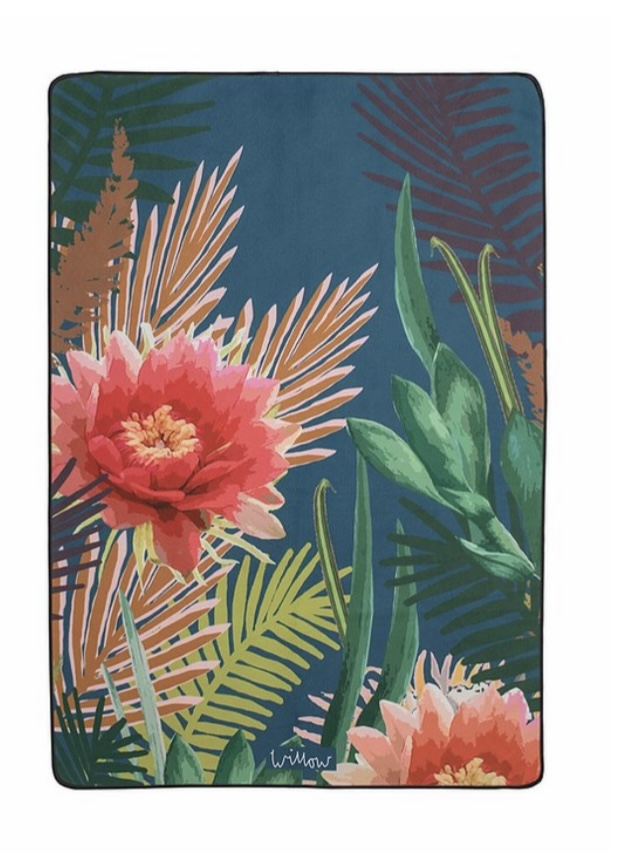 Willow Tropical- Hot Pink Microfibre Towel