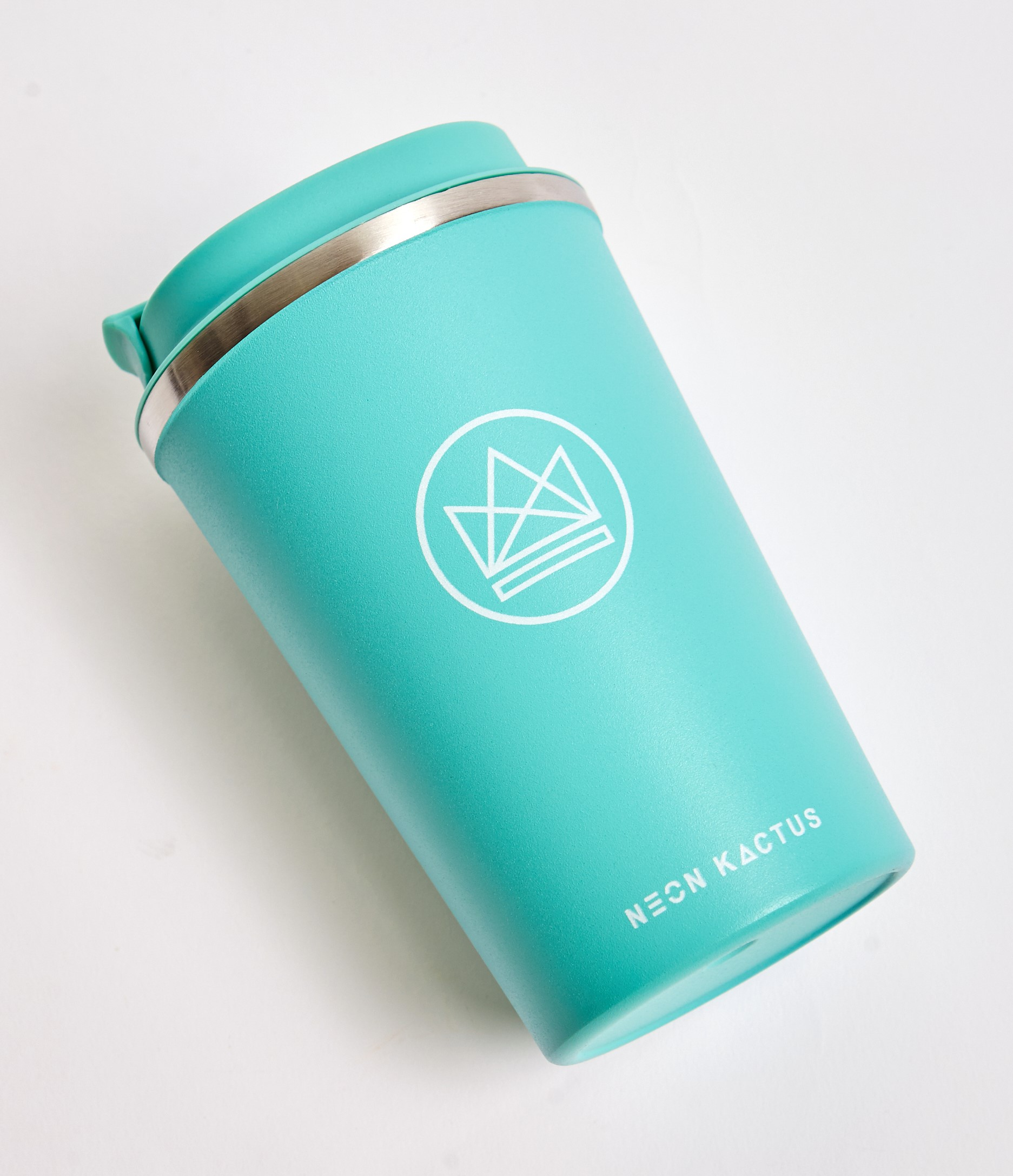 Neon Kactus -  Stainless Steel Coffee Cup - Mint Green 12oz