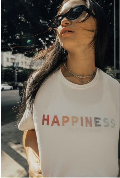 'Happiness' T-shirt - Olive & Frank