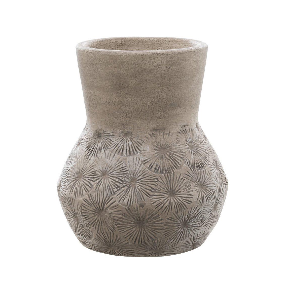 (Dassie Artisan) Chickadee Zaire Ceramic Vase Grey Medium