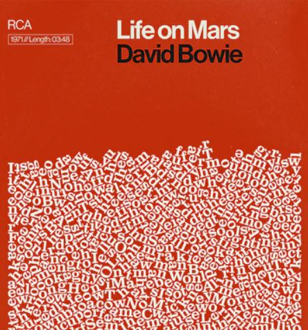 'Life on Mars, David Bowie' (A3)