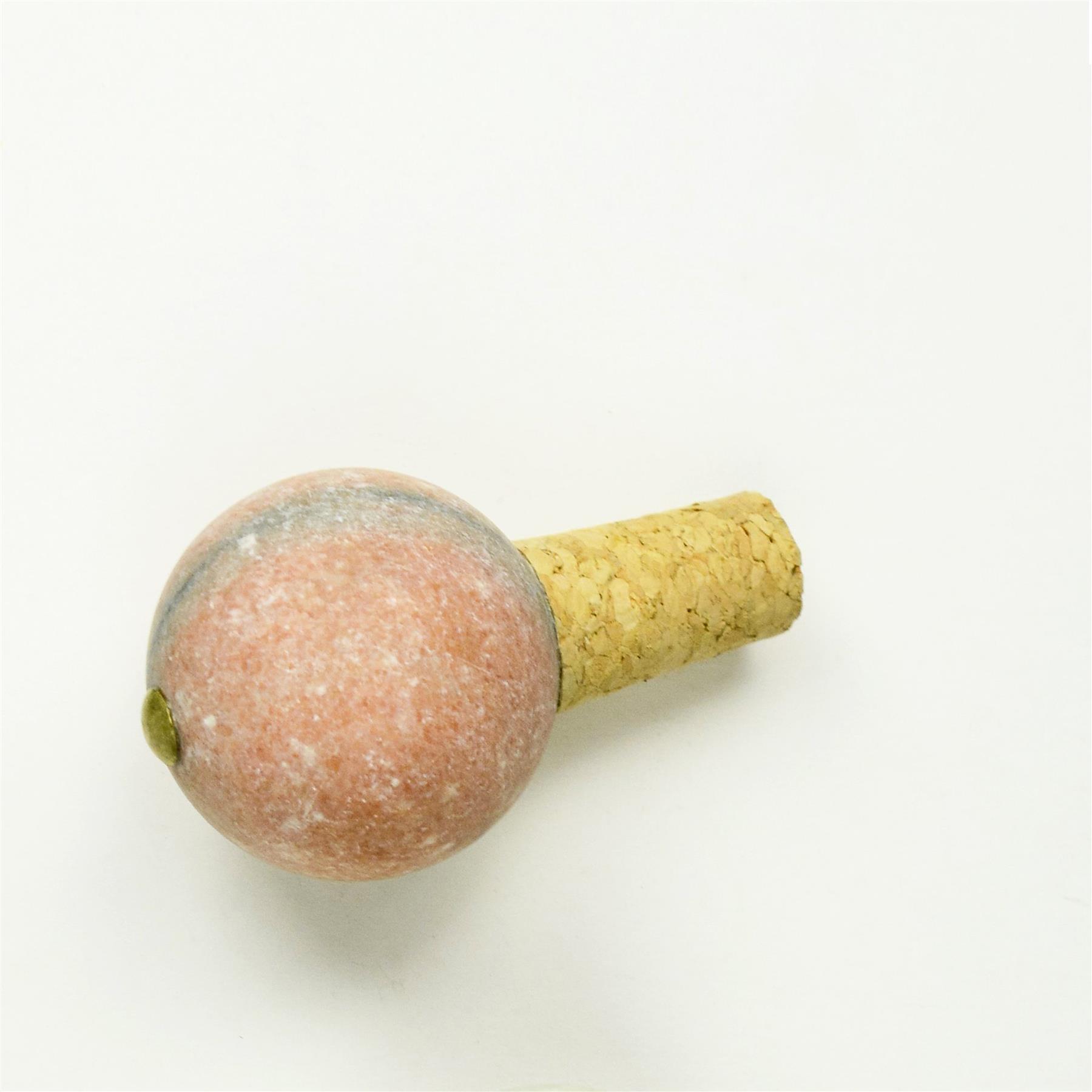 Dassie Artisan- Chickidee - Nalin Marble Bottle Stopper Pink