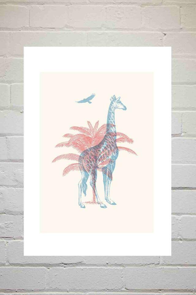 'Giraffe'  (A3) Art Print (East End Prints)
