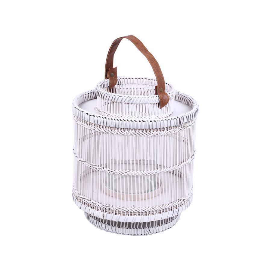 Chickidee - Ira Bamboo Lantern White Small × 4