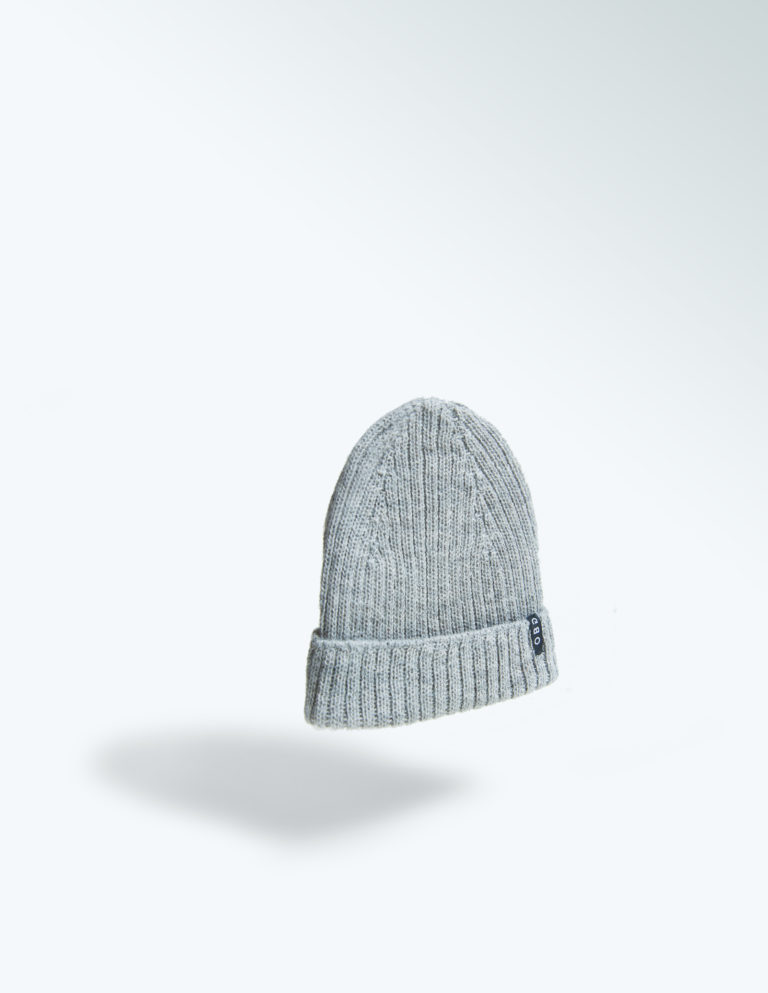 OBG - 100% Alpaca wool hat - Basic Rib Grey