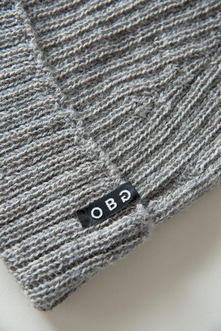 OBG - 100% Alpaca wool hat - Basic Rib Grey