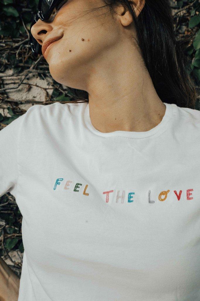 'Feel The Love' T-Shirt - Olive & Frank