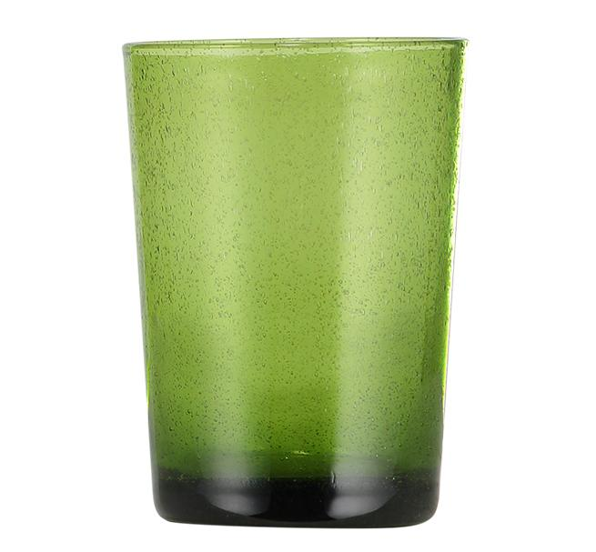 BCS British Colour Standard - Handmade Tumbler  Glass - Apple Green