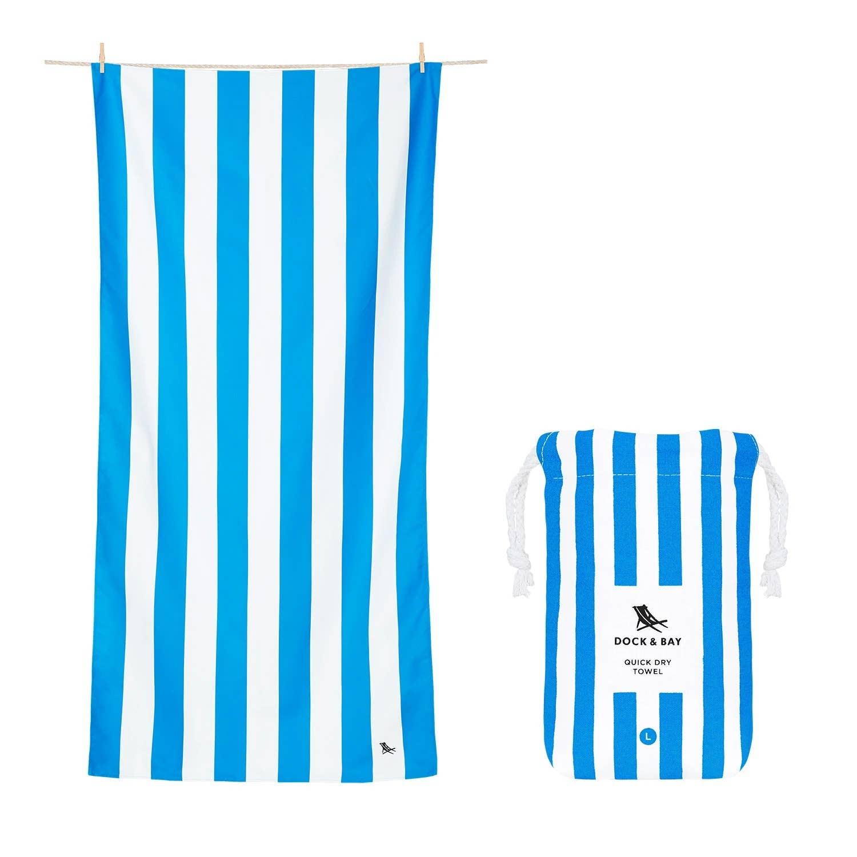 Dock & Bay Quick Dry Towel - Cabana - Bondi Blue