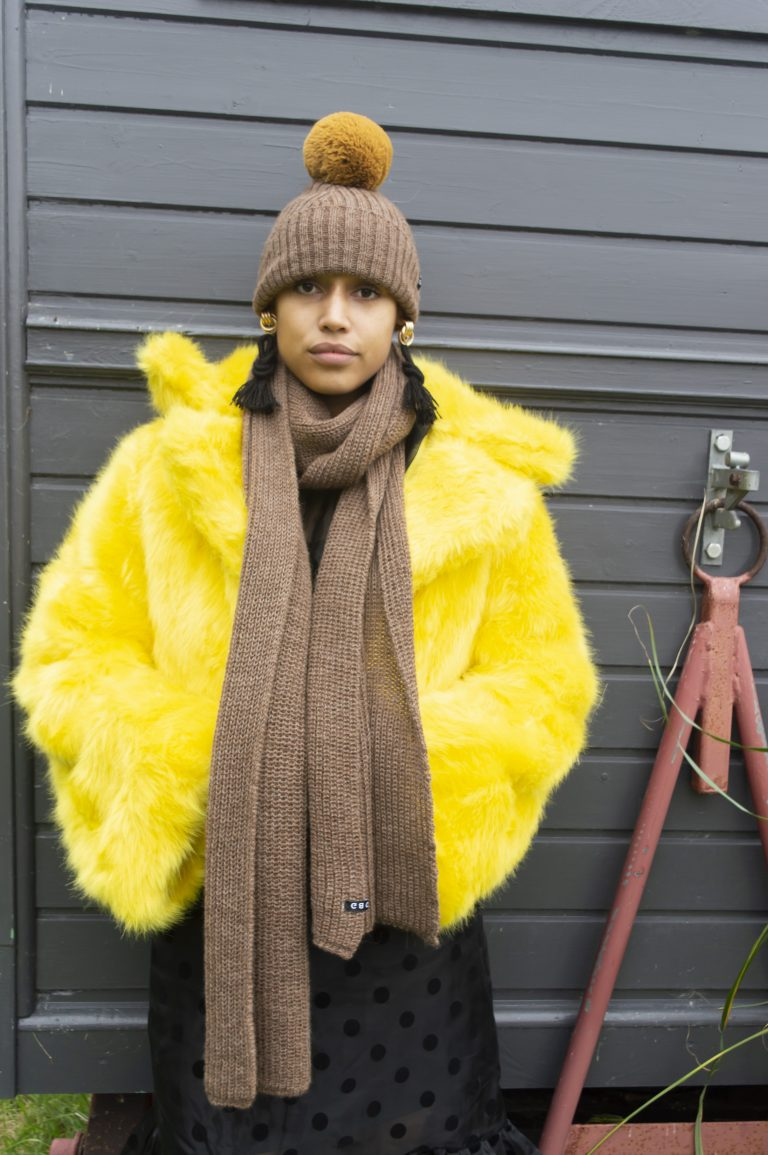 OBG - WALNUT 100% Alpaca Wool Scarf